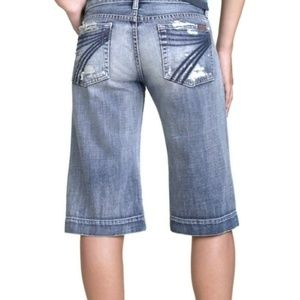 DOJO 7 for All Mankind Distressed Bermuda shorts
